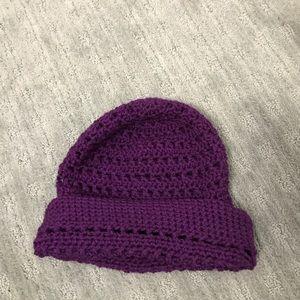 Accessories - Purple winter knit hat beanie